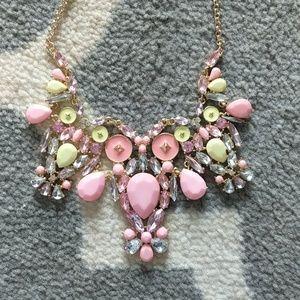 Pink owl statement necklace pastel